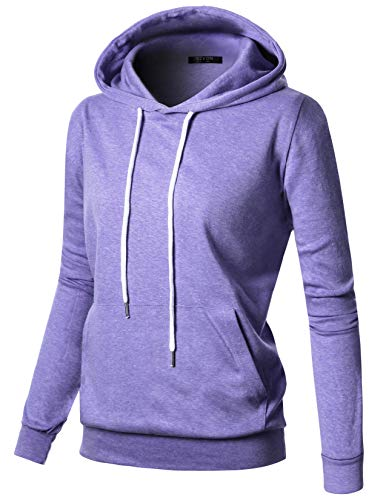 GIVON Womens Comfortable Long Sleeve Lightweight Hoodie with Kanga Pocket