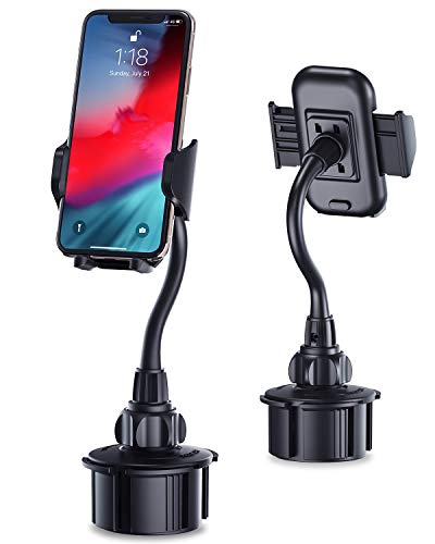 Car Cup Holder Cell Phone Mount, Cupount_XL Universal Cell Phone Holder for iPhone Xs XR X 8 7 6S Plus, etc