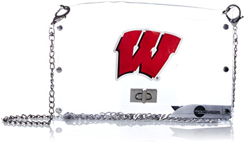 Littlearth Wisconsin Badgers  NCAA Envelope Purse, Clear  - 10 x 0.5 x 6.5 - Inch (Wisconsin Football Stadium)