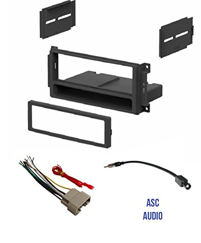 ASC Audio Car Stereo Radio Install Dash Kit, Wire Harness, and Antenna Adapter to Add a Single Din Radio for some 2007-2016 Chrysler Dodge Jeep- Important: Read Compatible Vehicles /Restrictions -