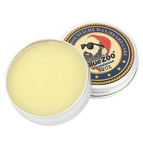 MonkeyJack Natural Men Beard Balm Shaving Cream Leave-In Taming Styling Beard Growth Conditioner Moustache Wax Moisturizer - Sandalwood