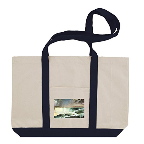Niagara (Church) Cotton Canvas Boat Tote Bag Tote - Navy by Style in Print