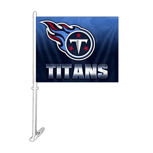 NFL Tennessee Titans Car Flag with Wall Bracket, Team Color