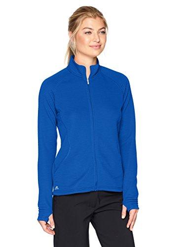 (adidas Golf Women's Essential Textured Jacket, Medium, Collegiate Royal)