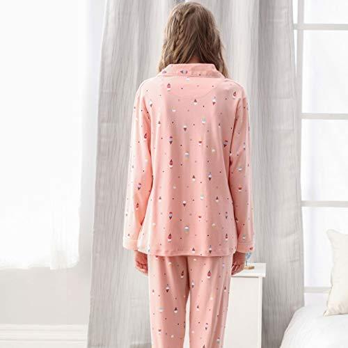 dimensioni Cotone Inverno L Autunno Pink HUXIUPING Pigiama Casual Colore Pink Primavera E Donna vwXOZ