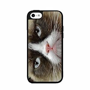 Cranky Cat TPU RUBBER SILICONE Phone Case Back Cover iPhone 5c by lolosakes
