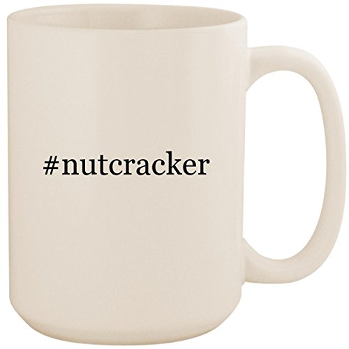 #nutcracker - White Hashtag 15oz Ceramic Coffee Mug Cup ()