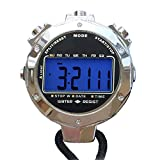 Melt Stopwatch,1/1000 Seconds Timing 200 Pcs Memories Waterproof 2 Clock Precision Outdoor Electronic Digital Chronograph Timer for Basketball Soccer Football Baseball Outdoor Sports