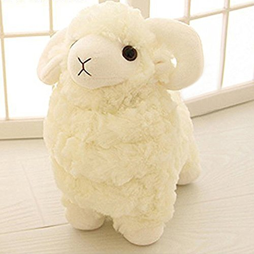 LUCKSTAR(TM) Creamy White 28CM Lovely Soft Sheep Goat Animal Stuffed Plush Doll Toy Birthday Gift Home Decoration