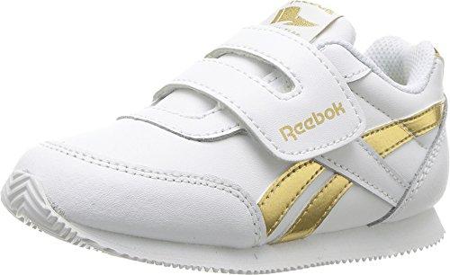Reebok Kids Baby Girl's Royal CL Jogger 2RS KC (Toddler) White/Gold Metallic 8 Toddler M (Shoes Girl Reebok Toddler)
