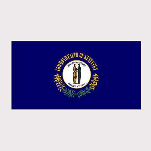 Kentucky Pride State Flag Full Color Two Pack - 2 Inch Decal for Macbook, Laptop or other - Louisville Store Kentucky Louisville