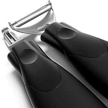 Super Peelers - Triple Your Peeling Speed - Ultra Sharp Stainless Steel Double-edged Blades - Sharp Y Shaped Potato Peeler and Vegetable Peeler - Set of 2