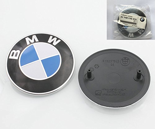 82mm Bmw 2 Pin Emblem Logo Replacement For Hood Trunk For