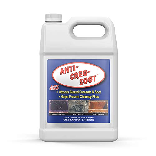 (Liquid Creosote Remover - Anti-Creo-Soot | 1 Gallon Bottle | Removes Dangerous Glazed Creosote and Soot)