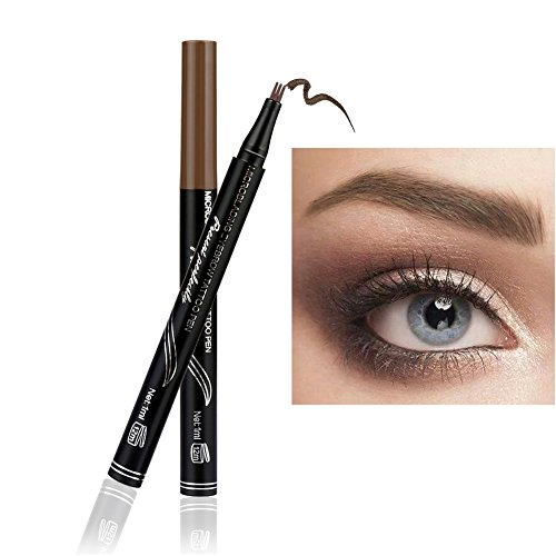 New ARTIFUN Waterproof/Smudge-proof Eyebrow Pencil, Long-lasting Brow Gel for Eyes Makeup -3D Fork Brown for sale