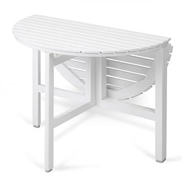 Skagerak Selandia - Table de jardin ronde, pliable, blanc laqué Ø ...