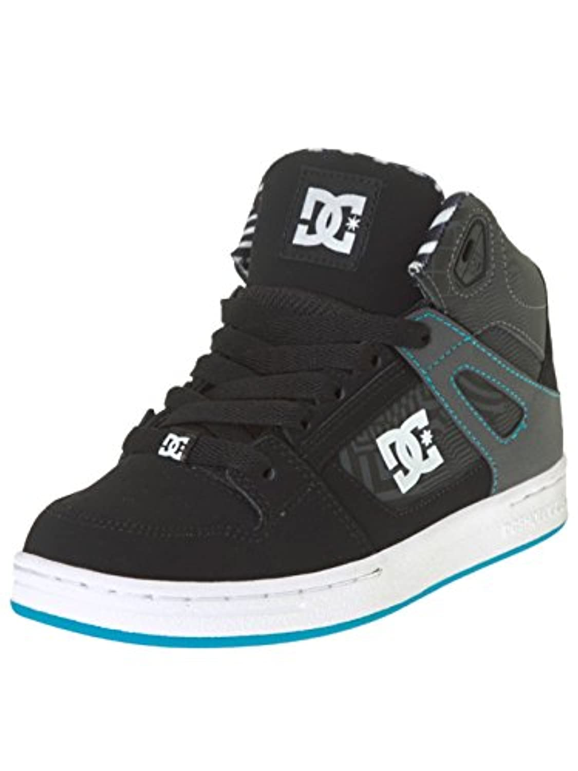 DC Rebound Kb, Boys' Sneakers, Black (Black / White / Blue), 3 UK (35 EU)