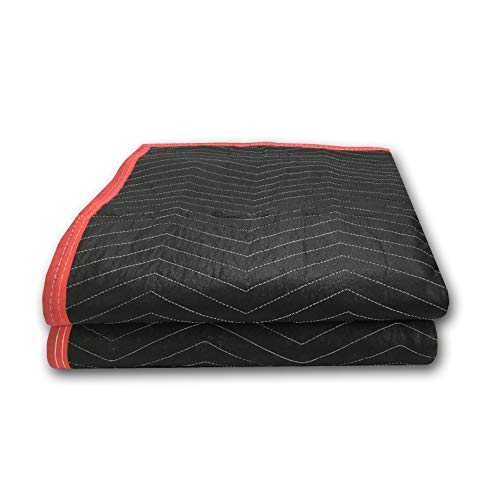 2 Pack of Deluxe Moving Blankets - 5.42lbs/Each - Protective Shipping ()