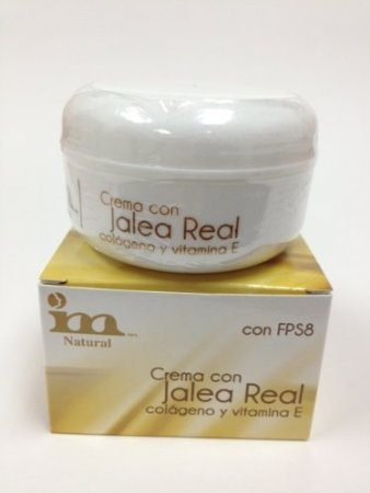 Amazon.com : Collagen (Colageno) and Royal Jelly (Jalea Real) Cream, with Vitamin E, Beeswax, Mineral Oil, 1.76oz, 50gr, 100%... : Beauty