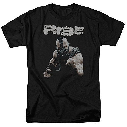 Trevco Men's Batman Dark Knight Rises Short Sleeve T-Shirt, Black, XXX-Large