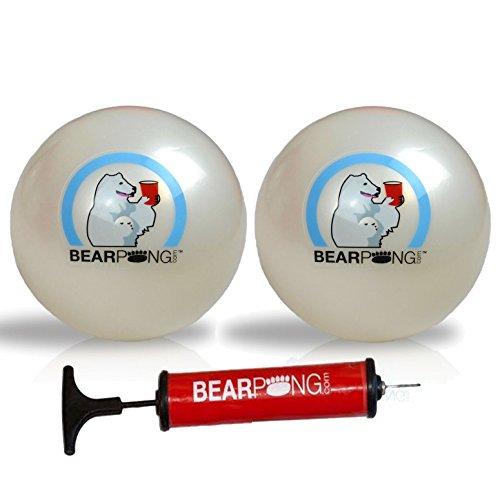 Bearpong Set of 2 Original 6'' Balls for Bearpong with Pump by Bear Pong