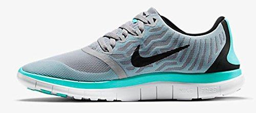Nike Kvinders Wmns Free 4.0 Løbesko, Sort Ulv Grå / Sort-lys Turkis