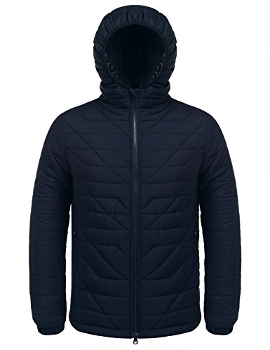 Jinidu Mens Packable Hooded Down Jacket Lightweight Puffer Coats Mena Coat