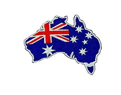 Carte Australie Drapeau.Patch Ecusson Brode Drapeau Backpack Australie Carte Australien Thermocollant