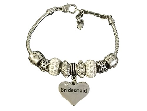 Infinity Collection Bridesmaid Charm Beaded Bracelet, Bridesmaid Jewelry, Wedding Bridal Party Gift for Bridesmaids -