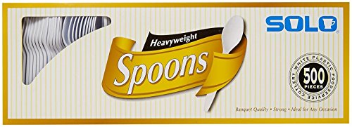 - Solo White Heavyweight Spoons - 500 ct