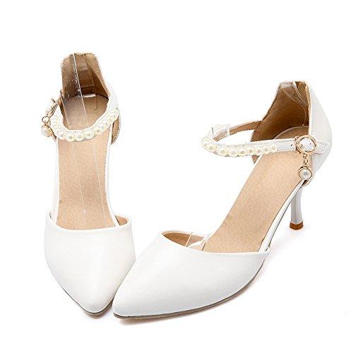 Compensées Inconnu Blanc Sandales Femme 1TO9 pqqFU8Pw