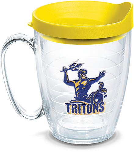 Tervis 1135987 UC San Diego Tritons Logo Tumbler with Emblem and Yellow Lid 16oz Mug, - Ounce 16 Tumbler California