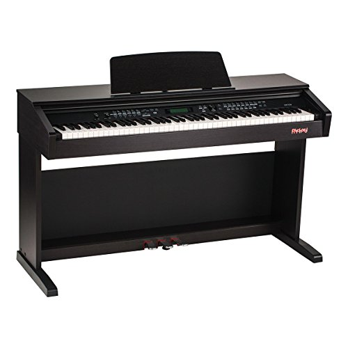 Flychord DP330 88 key Fully Weighted Console Digital Piano for Beginner - Educational Features Upright Piano - Dark Rosewood by Flychord