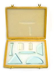 Eisco 7 Piece Glass Prism Set: 0.5\