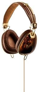 Skullcandy Roc Nation Aviator Brown/Gold Headphones w/Microphone