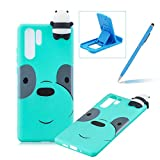TPU Case for Huawei P30 Pro,Rubber Case for Huawei P30 Pro,Herzzer Stylish Big Eyes Bear Print Ultra Slim Soft Silicone Gel Bumper Shockproof Flexible Case