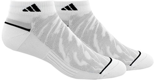 adidas Mens Superlite Prime Mesh Low Cut Socks (2-Pack), Grey Marl/Black, Size 6-12