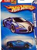 Hot Wheels 2010-158/214 Hot Auction 02/10 BLUE Bugatti Veyron SHORT CARD 1:64 Scale
