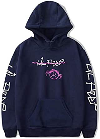 Lil Peep LOVE Sweatshirt Men Women Casual Pullover Hip Hop Lil Peep Rapper Hoodies Sad Face Hoodie