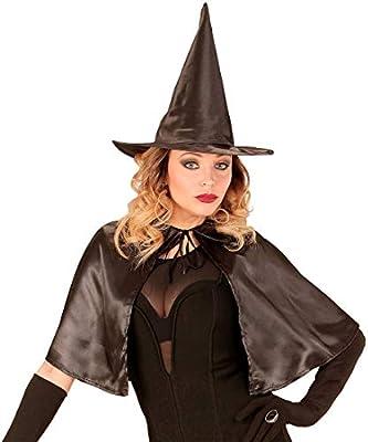 NET TOYS Encantador Set Disfraz de Bruja con Capa y Sombrero ...