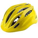 Crazy Mars Kids Bike Helmet Boys Girls Bicycle Skateboard Helmet Yellow M