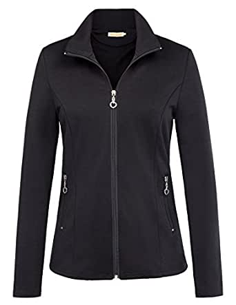 Kate Kasin Stylish Stand Collared Trench Coat Hiking Jacket for Teenager (S,Black)
