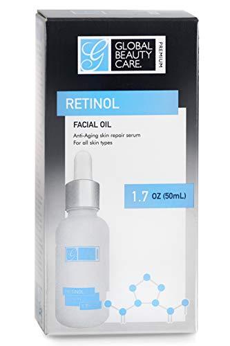 Global Beauty Care Premium Retinol Facial Oil Anti-Aging Skin Repair Serum for Face Night or Day Treatment Anti-Wrinkles…