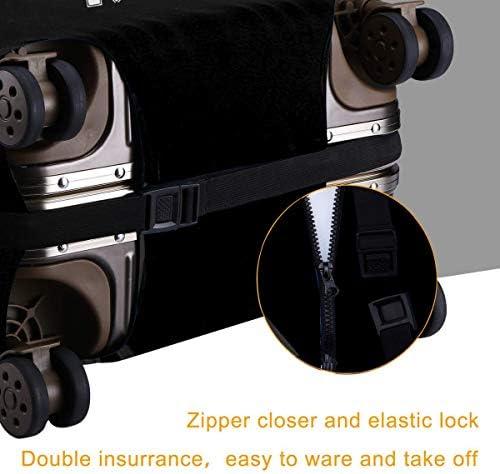 スーツケースカバー キャリーカバー デスロウレコード ラゲッジカバー トランクカバー 伸縮素材 かわいい 洗える トラベルダストカバー 荷物カバー 保護カバー 旅行 おしゃれ S M L XL 傷防止 防塵カバー 1枚