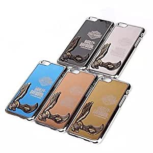 JJE sold out Fashion Inlaid Domineering Eagle Aluminium Alloy Hard Cover for iPhone 6 (Assorted Colors) , Black