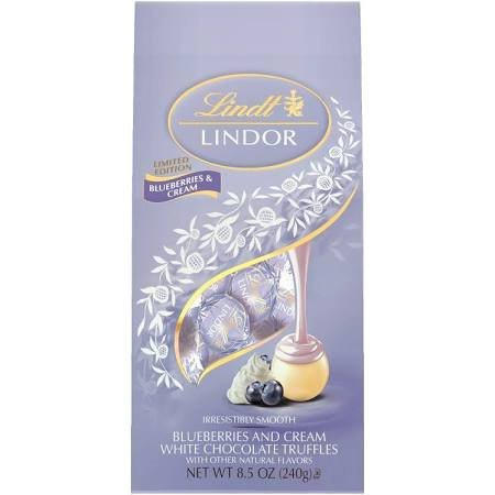 Lindt Lindor Blueberries & Cream White Chocolate Truffles 8.5 oz - 2 count ()