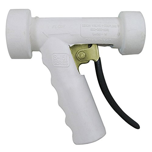 Dixon Sanitary Hot Water Washdown Spray Nozzle Brass w// White Cover
