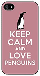 Keep Calm and Love Penguins iPhone 5/5s Case Cover