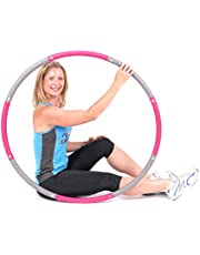 ResultSport Level 1 Foam Padded 1.2 Kg Weighted - Aro de Fitness (100 cm, Adulto), Color Rosa