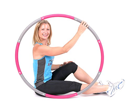 ResultSport The Original Foam Padded Level 1 Weighted 1.2kg (2.65lb) Fitness Exercise Hoop 100cm Wide